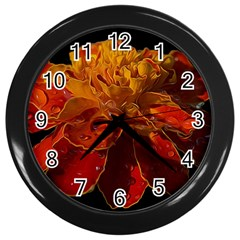 Marigold on Black Wall Clocks (Black)