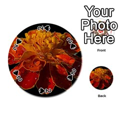 Marigold on Black Playing Cards 54 (Round)