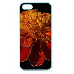 Marigold on Black Apple Seamless iPhone 5 Case (Color)