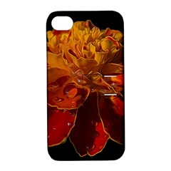Marigold On Black Apple Iphone 4/4s Hardshell Case With Stand