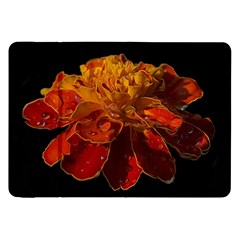 Marigold on Black Samsung Galaxy Tab 8.9  P7300 Flip Case