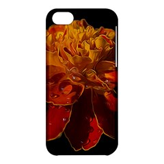 Marigold on Black Apple iPhone 5C Hardshell Case