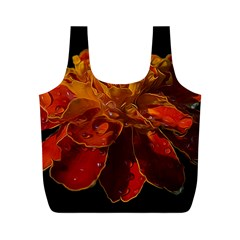 Marigold on Black Full Print Recycle Bags (M)