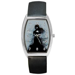 He Never Came Barrel Style Metal Watch