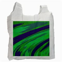 Swish Green Blue Recycle Bag (Two Side)