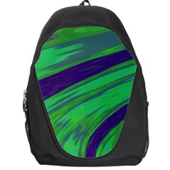 Swish Green Blue Backpack Bag