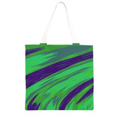 Swish Green Blue Grocery Light Tote Bag