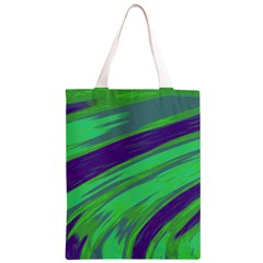 Swish Green Blue Classic Light Tote Bag