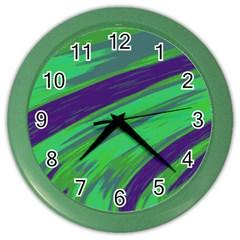 Swish Green Blue Color Wall Clocks
