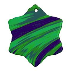 Swish Green Blue Ornament (Snowflake)