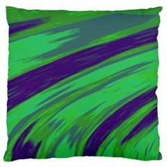 Swish Green Blue Standard Flano Cushion Case (Two Sides)
