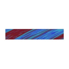 Swish Blue Red Abstract Flano Scarf (Mini)