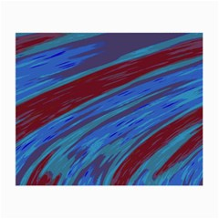Swish Blue Red Abstract Small Glasses Cloth (2-Side)