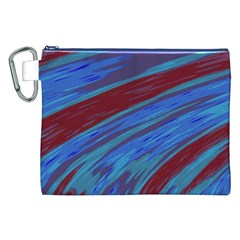 Swish Blue Red Abstract Canvas Cosmetic Bag (XXL)