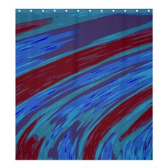 Swish Blue Red Abstract Shower Curtain 66  x 72  (Large)