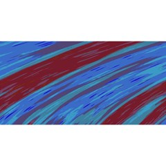 Swish Blue Red Abstract YOU ARE INVITED 3D Greeting Card (8x4)