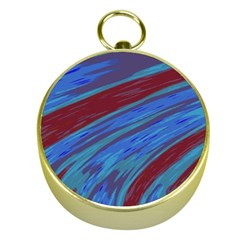 Swish Blue Red Abstract Gold Compasses