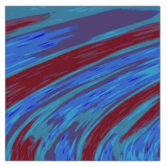 Swish Blue Red Abstract Large Satin Scarf (Square)