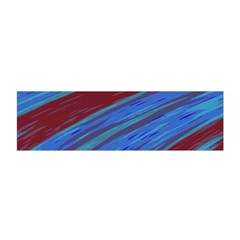 Swish Blue Red Abstract Satin Scarf (Oblong)