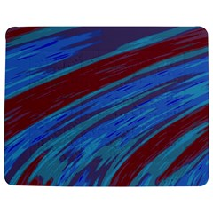 Swish Blue Red Abstract Jigsaw Puzzle Photo Stand (Rectangular)