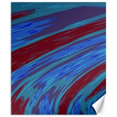 Swish Blue Red Abstract Canvas 8  X 10
