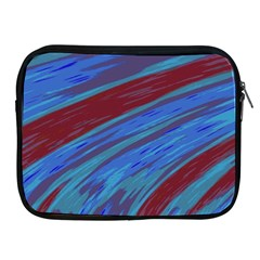 Swish Blue Red Abstract Apple iPad 2/3/4 Zipper Cases