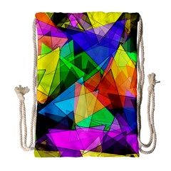 Colorful triangles                                                                  Large Drawstring Bag