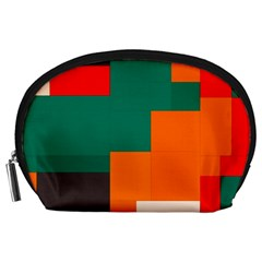 Rectangles and squares  in retro colors                                                                   Accessory Pouch