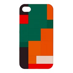 Rectangles and squares  in retro colors                                                                   Apple iPhone 4/4S Hardshell Case