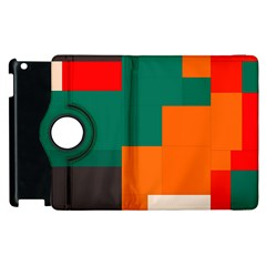 Rectangles and squares  in retro colors                                                                   			Apple iPad 2 Flip 360 Case