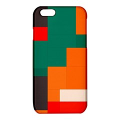 Rectangles and squares  in retro colors                                                                   iPhone 6/6S TPU Case