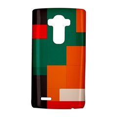 Rectangles and squares  in retro colors                                                                   LG G4 Hardshell Case