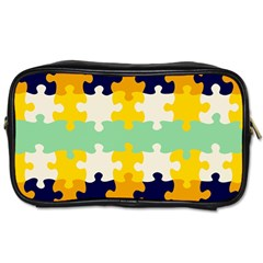 Puzzle pieces                                                                     			Toiletries Bag (One Side)
