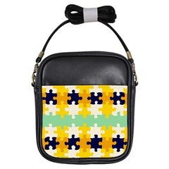 Puzzle pieces                                                                     			Girls Sling Bag