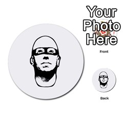 Baldhead Hero Comic Illustration Multi-purpose Cards (Round)