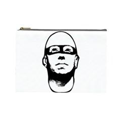Baldhead Hero Comic Illustration Cosmetic Bag (Large)