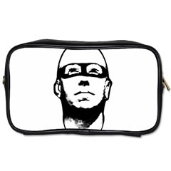 Baldhead Hero Comic Illustration Toiletries Bags 2-Side