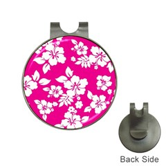Pink Hawaiian Hat Clips With Golf Markers