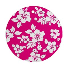 Pink Hawaiian Round Ornament (Two Sides)