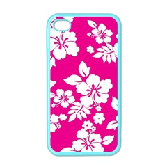 Pink Hawaiian Apple iPhone 4 Case (Color)