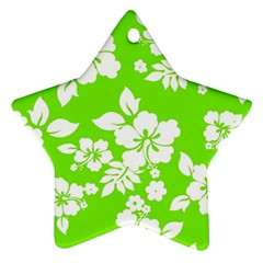 Lime Hawaiian Star Ornament (Two Sides)