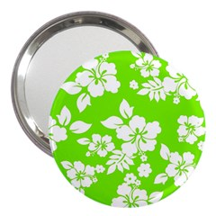 Lime Hawaiian 3  Handbag Mirrors