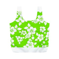 Lime Hawaiian Full Print Recycle Bags (M)