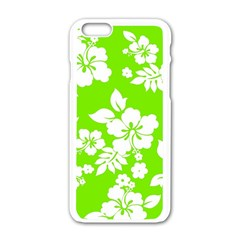 Lime Hawaiian Apple iPhone 6/6S White Enamel Case