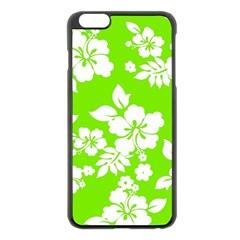 Lime Hawaiian Apple Iphone 6 Plus/6s Plus Black Enamel Case