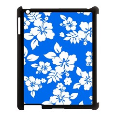 Blue Hawaiian Apple iPad 3/4 Case (Black)