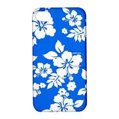 Blue Hawaiian Apple Iphone 4/4s Hardshell Case With Stand