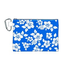 Blue Hawaiian Canvas Cosmetic Bag (M)