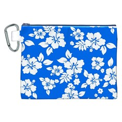 Blue Hawaiian Canvas Cosmetic Bag (XXL)