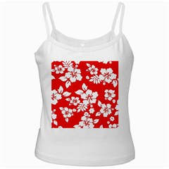 Red Hawaiian White Spaghetti Tank